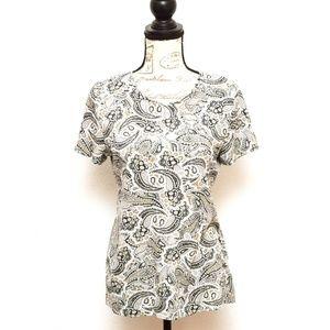 Croft & Barrow Classic Tee Shirt Womens Size Small